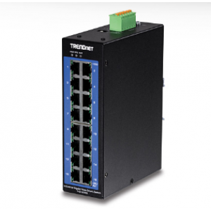 Tööstuslik Switch: 16 x Gigabit, Din, IP30, -40 to 75 ºC, Web Smart