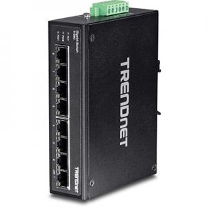 Tööstuslik Switch: 8 x Gigabit, Din, IP30, -40 to 75 ºC