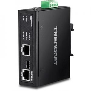 Tööstuslik Ultra PoE Injector: 1 x 10/100/1000Mbps, Mode A ja B,  Din, IP30, -40 to 75 ºC, kuni 60W