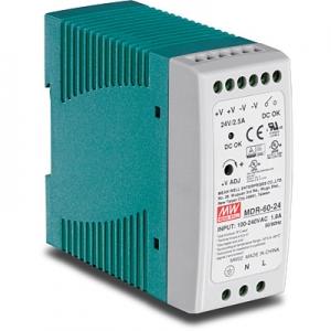 Tööstuslik toiteplokk DIN-liistule 60W 24V 2.5A, IP30, -20 kuni 70 °C