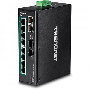 Tööstuslik PoE Switch: 8 x Gigabit PoE+,2x Gigabit RJ-45/SFP, Din-Rail, IP30, -40 to 75 ºC, 240W