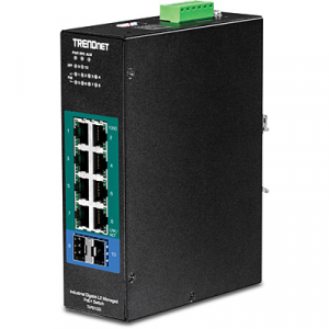 Tööstuslik PoE Switch: 8 x Gigabit PoE+, 2 x SFP, Layer 2, Din-rail, IP30, -40 to 75 ºC
