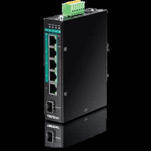 Tööstuslik PoE+ Switch: 8 x Gigabit PoE+ M12, 200W@48V, 100W@24V, kinnitused komplektis