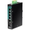 Tööstuslik PoE Switch: 6 porti, 4 x Gigabit PoE+, 1 x Gigabit, 1 x Gigabit SFP, Layer 2 manageeritav, Din, IP30, -40 to 75 ºC, 120W