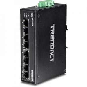 Tööstuslik PoE Switch: 8 x Gigabit PoE+, Din, IP30, -40 to 75 ºC, 200W