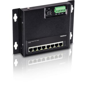 Tööstuslik PoE Switch: 8 x Gigabit PoE+, 200W, kinnitused komplektis