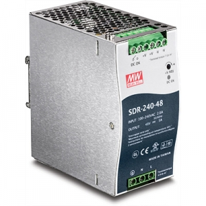 Tööstuslik toiteplokk DIN-liistule 240W 48V 5A, IP30, -25 kuni 70 °C