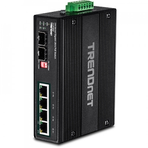Tööstuslik PoE Switch: 4 x Gigabit Ultra PoE+,2x dedicated SFP porti, Din-Rail, IP30, -40 to 75 ºC, 240W