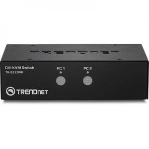 KVM switch: 2 porti, DVI, 4xUSB A, 2xUSB B, audio, mikrofon, kaablitega, kuni 2560x1600