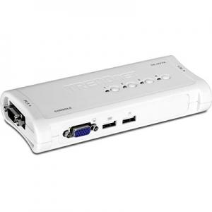KVM switch: 4 porti, VGA, USB, kaablitega, kuni 2048x1536