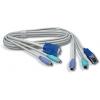 KVMi kaabel: VGA + PS/2, 1.85m