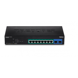 PoE Switch: 8x Gigabit Web Smart PoE+, 2 Mini-GBIC (SFP), räkitav