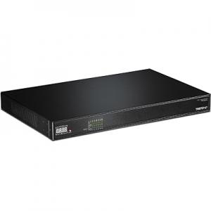 PoE Switch: 16 x Gigabit AV PoE+, räkitav, 250W (ühendused tagapaneelil)