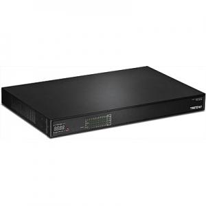 PoE Switch: 24 x 10/100/1000Mbps AV PoE+, 2 x SFP, räkitav, 400W (ühendused tagapaneelil)