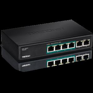 PoE Switch: 4 x PoE, 2 x 10/100Mbps, GREENnet, metall korpusega