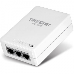 Powerline adapter: 3 x 10/100Mbps, 200Mbps