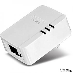 Powerline adapter: 1 x 10/100Mbps, 500Mbps, kompaktne: 70 x 50 x 63 mm