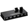 USB 2.0 hub, 10 porti, 5v 2.5a adapter, must