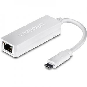 Võrgukaart: USB-C - RJ45 10/100/1000Mbps, valge, sobib ka Mac´idele