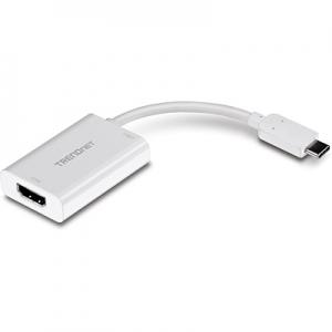 Konverter USB-C (M) - HDMI (F) 4096x2160@60Hz, eraldi USB-C toide, kaabel 0.10m, valge