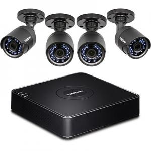 4 kanaliga HD CCTV DVR valve komplekt:4 kaamerat IP66, integreeritud 1TB SATA kõvaketas, 4 kanaliga digitaalne salvesti, toetab kuni 1080p HD