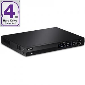 IP kaamerate videosalvesti: 16-le, 1x10/100/1000Mbps, 4TB HDD sees, toetab kuni 2 x 6TB HDD, 1080p, HDMI, VGA, RCA,USB, ONVIF, räkitav