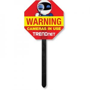 TRENDnet videovalve hoiatussilt
