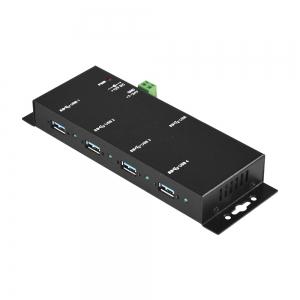 Tööstuslik USB 3.0 hub, 4 porti, kaablilukk