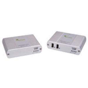 USB 2.0 pikendaja läbi CATx kaabli kuni 100m, 2 porti, kaugtoitega vastuvõtja