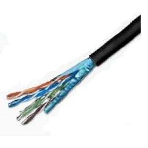 Keerdpaarkaabel Cat5e FTP 4x2x0,5 mitmekiuline välitingimustele must 305m/rull