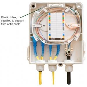 FO seinakarp 8 kiudu 8xSC simplex/LC duplex jätkuplaadiga plastik IP65 tühi