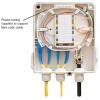 FO seinakarp 8 kiudu 8xSC simplex jätkuplaadiga plastik IP65