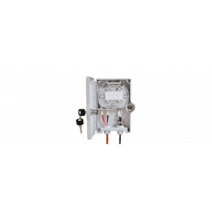 FO seinakarp 2-4 kiudu 2xSC simplex/LC duplex jätkuplaadiga plastik IP65 tühi