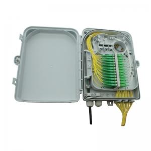FO seinakarp 24 kiudu IP65 24xSC SM simplex adapteritega ja pigtailidega