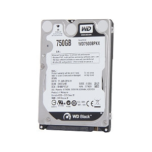 "Kõvaketas 2.5"" WD Mobile Black 750GB HDD SATA 6Gb/s"