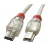 USB 2.0 kaabel Mini A - Mini B 0.5m OTG, läbipaistev