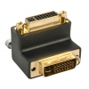 Adapter DVI-I (M) - DVI-I (F), 90° nurgaga