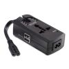 Sülearvuti ülepingekaitse + 2 pesaga USB laadija IEC C7/C8