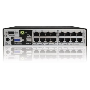 KVM switch: 8 porti, VGA, USB, PS/2, audio, arvuti kaugus KVM´ist kuni 30.5m