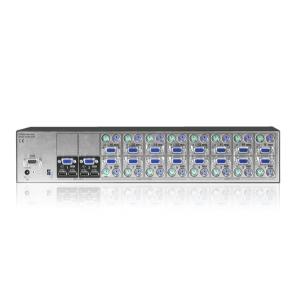 KVM switch: 8 porti, VGA, PS/2, räckitav (2 x kasutaja: VGA, USB)