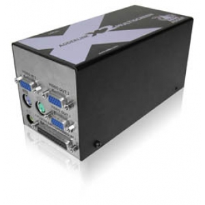 Audio / Video pikendaja kuni 300m läbi CATx (2 x VGA, 2 x RS-232, PS/2, Audio)
