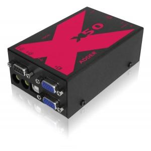 KVMi pikendaja (2 x VGA, USB) kuni 50m läbi CATx